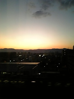 京の日暮れ