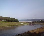 足羽川沿にて