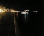 尾道の夜の海