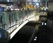 ライトアップされた大江橋