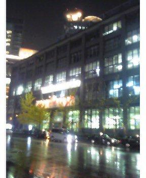雨中の中央郵便局
