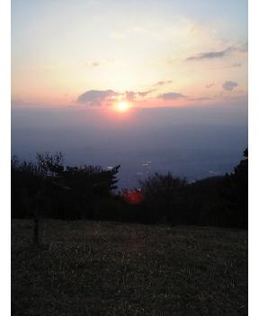 葛城山上の朝